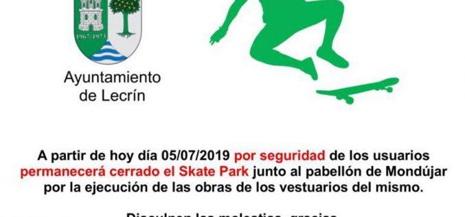 Cierre Skate Park