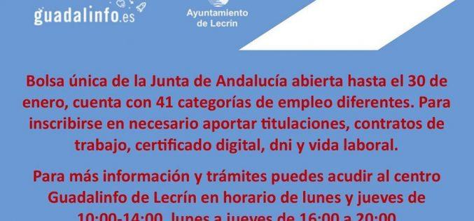 Bolsa Junta Andalucía