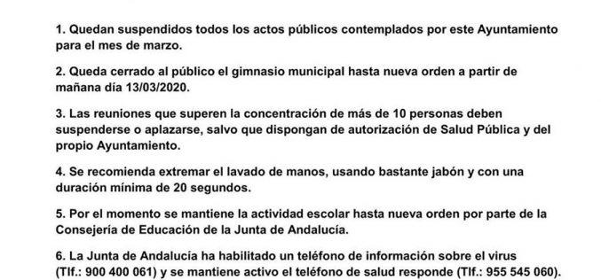 Comunicado Ayuntamiento Lecrín
