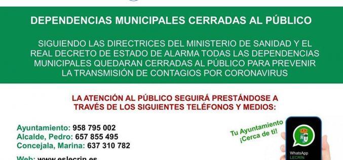 Ayuntamiento cerrado al público