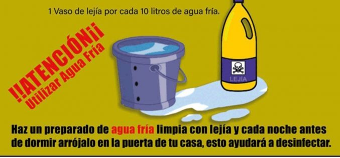 Ayúdanos a desinfectar