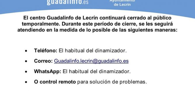 Guadalinfo continua cerrado