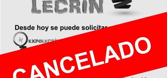 ExpoLecrín CANCELADO
