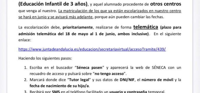 Plazo admisión CPR El Azahar