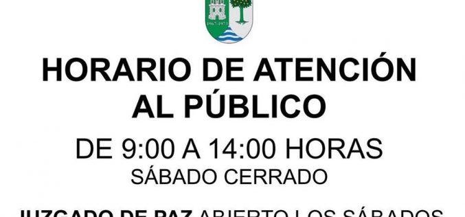 Horario 9:00 a 14:00