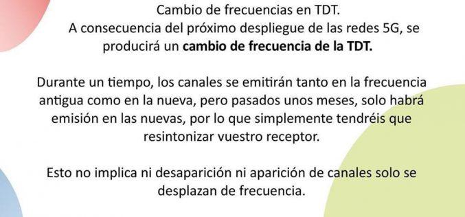 Cambio de frecuencias en TDT