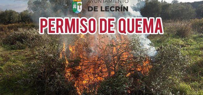 Recogida permisos de quema