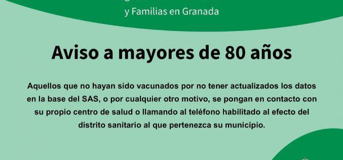 Aviso mayores de 80 años